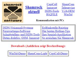 Shamrock first webpage